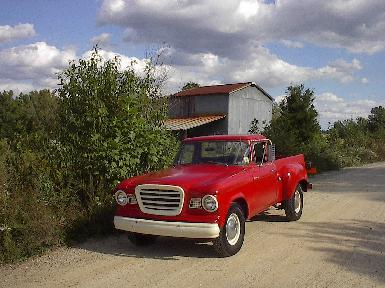 Studebaker Champ on a dirt road